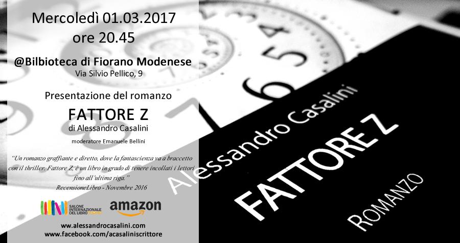 01/03 – Presentazione Fattore Z – Biblioteca Fiorano Modenese (MO)